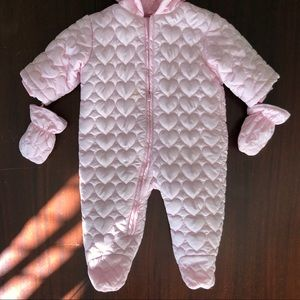 The Children's Place Pink Snow Suit with mittens!